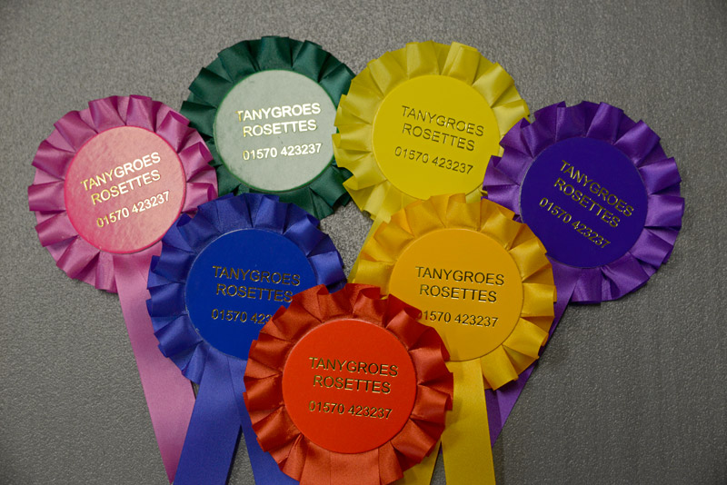 Our Standard Range of Rosettes